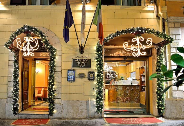 Hotel Homs, Roma, Ingresso hotel
