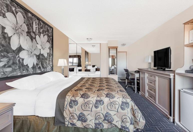 Super 8 by Wyndham Stettler, Stettler, Phòng, 1 giường cỡ king, Bồn tắm nước nóng, Phòng