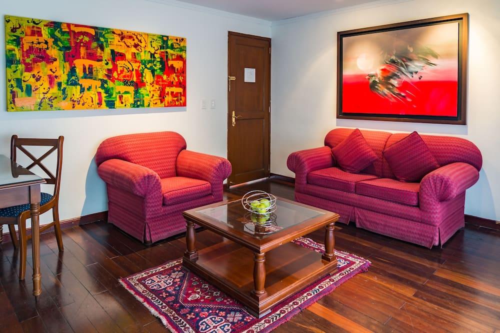 Junior Suite, 1 Queen Bed, Balcony - Living Room