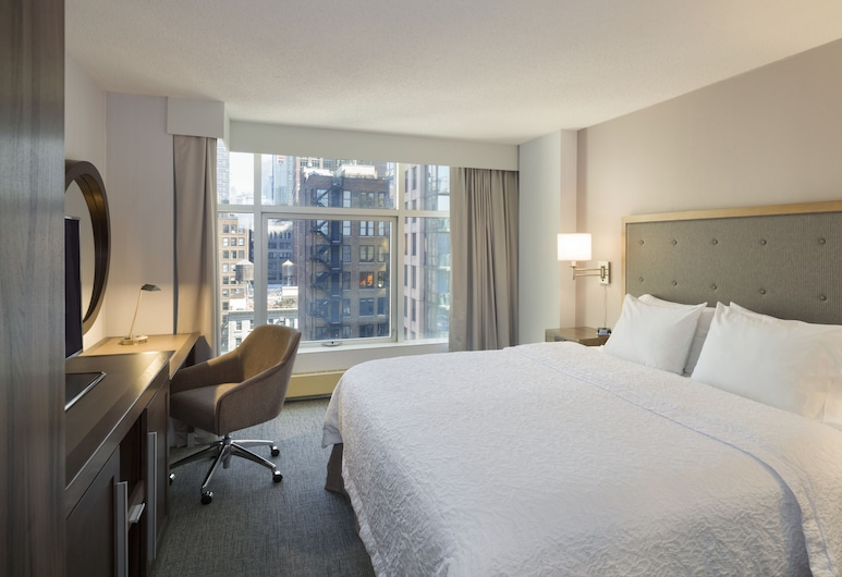 Hampton Inn Manhattan-Chelsea, New York, Kingsize bed, stadszicht, Kamer