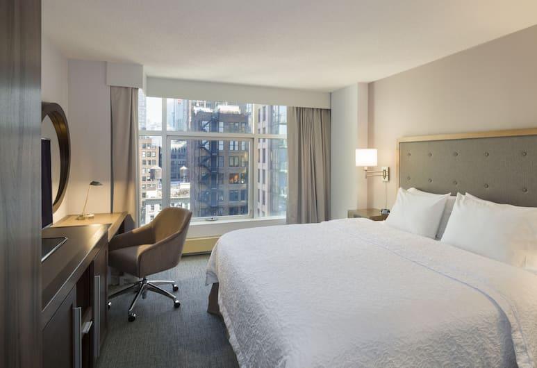 Hampton Inn Manhattan-Chelsea, Niujorkas, labai didelė lova, vaizdas į miestą, Svečių kambarys