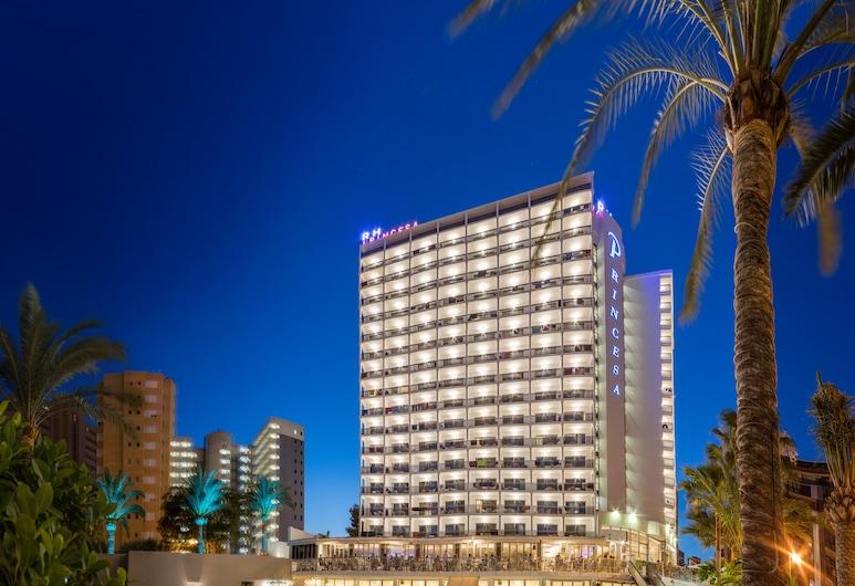 Hotel RH Princesa, Benidorm, Fachada del hotel de noche