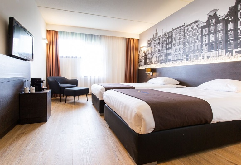 Bastion Hotel Amsterdam Noord, Amsterdam, Chambre Deluxe, 2 lits une place, Chambre