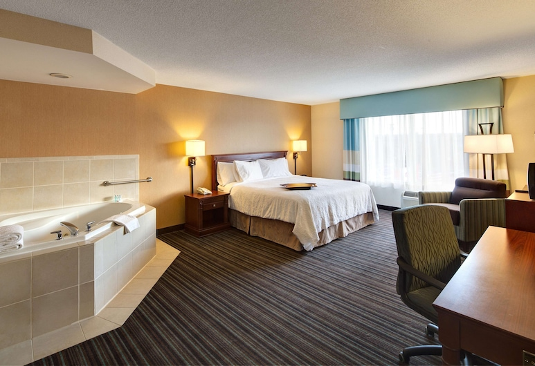 Hampton Inn & Suites by Hilton Toronto Airport, Mississauga, Studio, One King Bed, with Jetted Tub, Guest Room