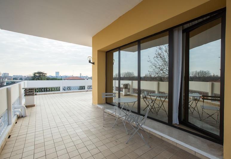 Hotel Ariston, Mestre, Standaard kamer, 1 twee- of 2 eenpersoonsbedden, Terras