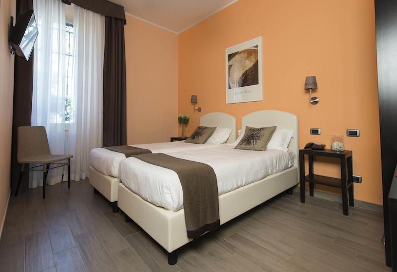 호텔 플로렌스, 밀라노, 스탠다드룸, 싱글침대 2개, 객실