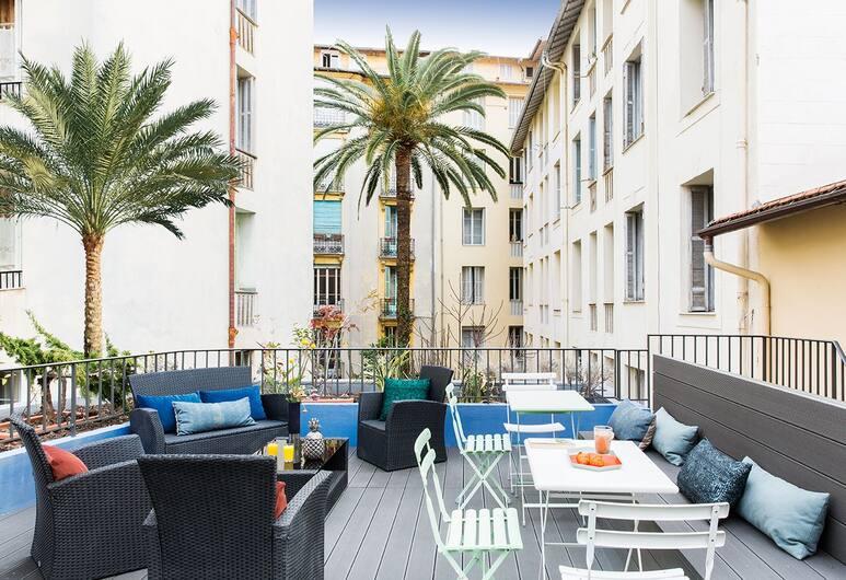 Hotel les Cigales, Nizza, Terrasse/Patio