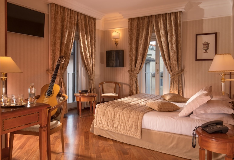 Albergo Ottocento, Rome, Deluxe Double Room, Guest Room