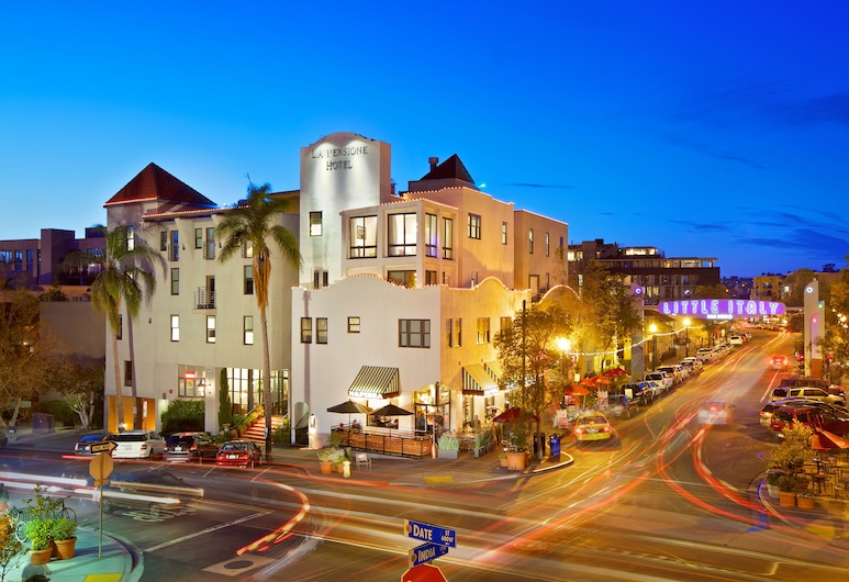 La Pensione Hotel, San Diego, Fachada do Hotel