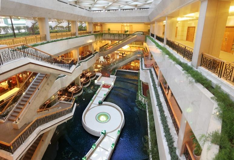 Guangdong Hotel, Canton, Salottino della hall