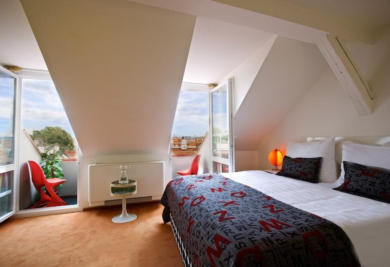 Vintage Design Hotel Sax, Praga, Quarto casal, Sacada, Quarto