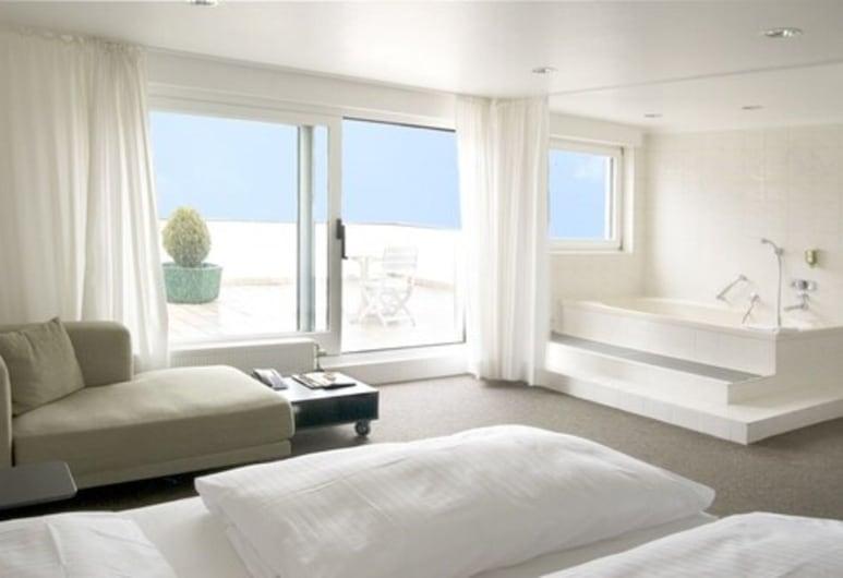 Atrium Rheinhotel, Colonia, Habitación doble Deluxe, balcón, Habitación