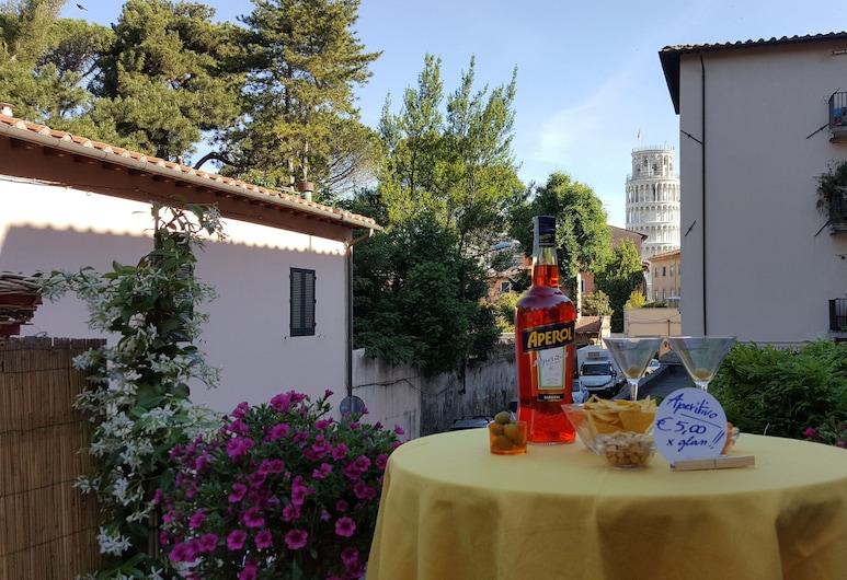 Hotel Francesco, Pisa, Restaurante al aire libre