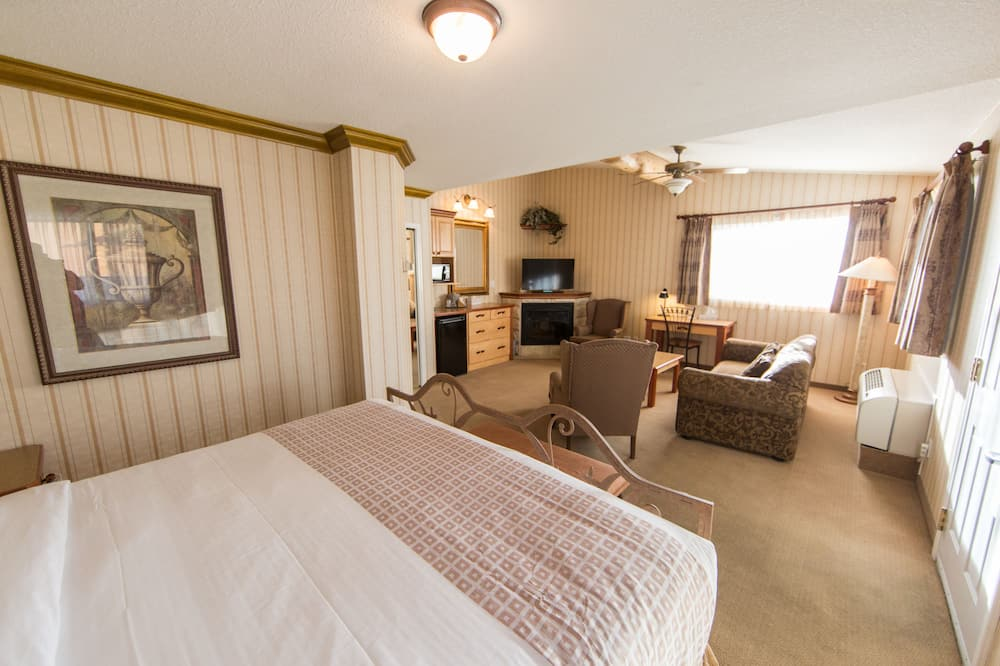 Deluxe Suite, 1 Katil Raja (King) dengan Katil Sofa, Fireplace - Ruang Tamu