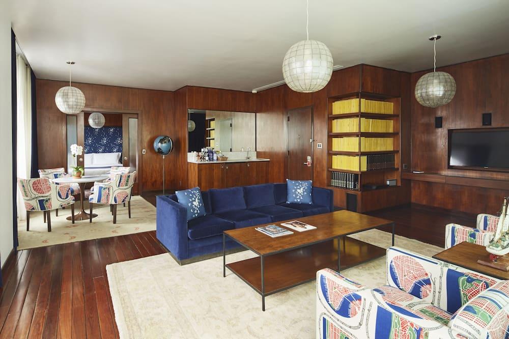 Ateliérový apartmán, terasa - Obývačka