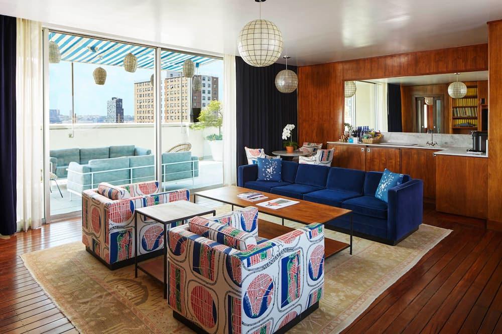 Ateliérový apartmán - Obývačka