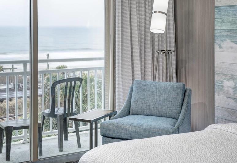 Courtyard by Marriott Carolina Beach, Carolina Beach, Habitación, 2 camas Queen size, balcón, frente al mar, Habitación