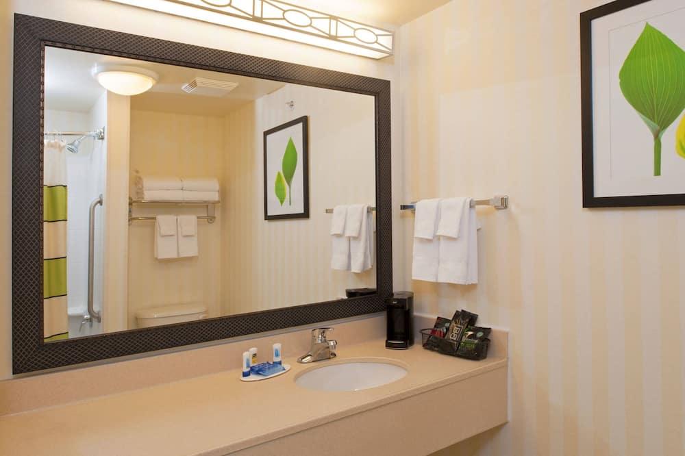 룸, 더블침대 2개 - 욕실