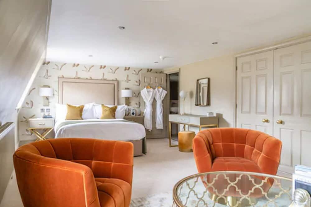 Deluxe-Doppelzimmer, 1 Doppelbett - Wohnbereich