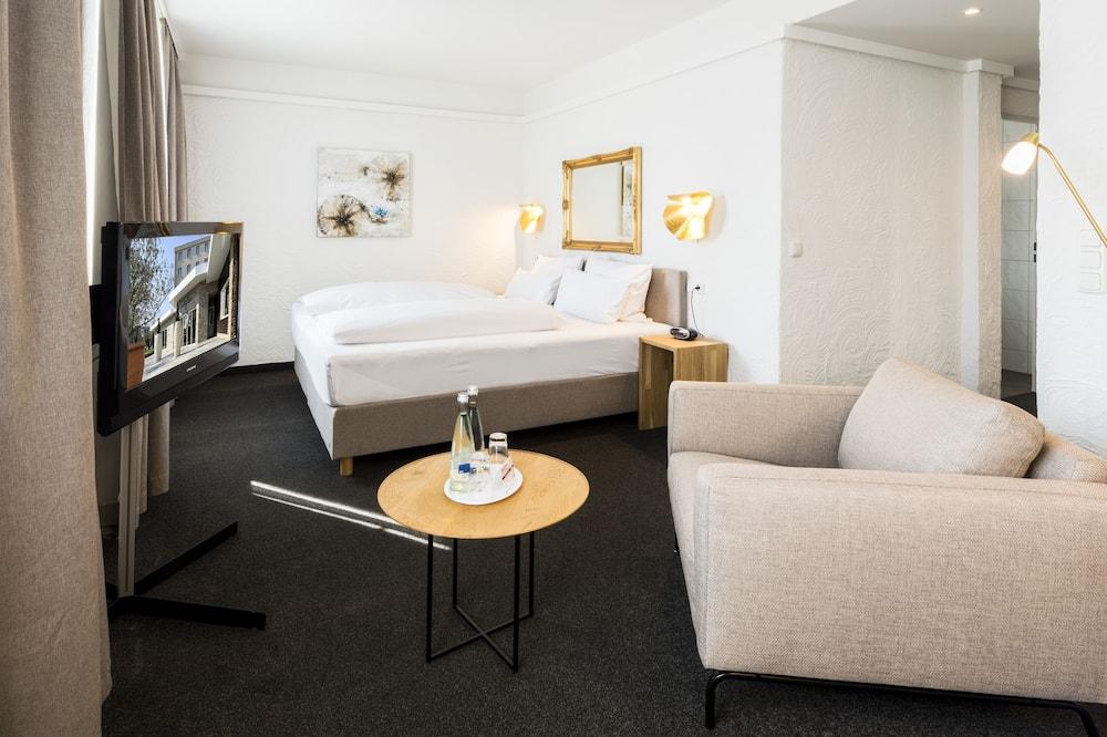 Comfort-Zimmer, 1 Queen-Bett, Stadtblick - Wohnbereich