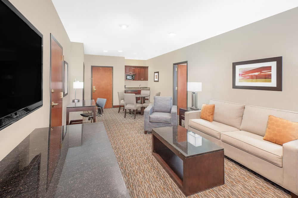 Deluxe Suite, 1 King Bed, Non Smoking (One-Bedroom) - Living Room
