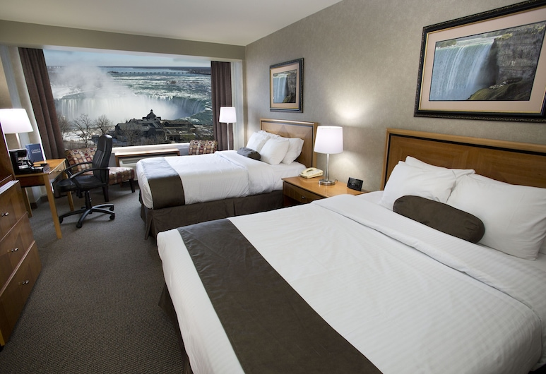 Oakes Hotel Overlooking the Falls, Niagara Falls, Fallsview 2 queen beds 8-12 , Guest Room