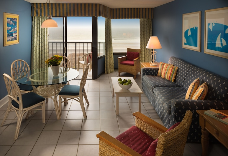 Ocean Club Resort Myrtle Beach a Ramada by Wyndham, Pantai North Myrtle , One Bedroom Condo, Ruang Tamu