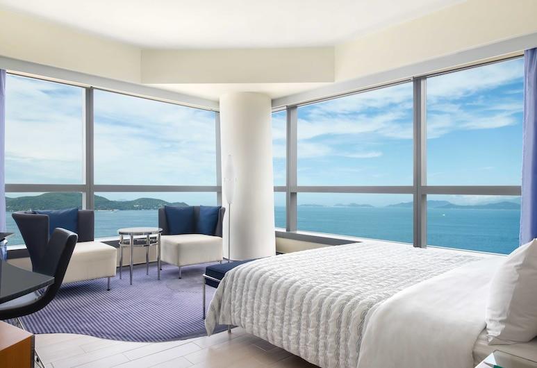 香港數碼港艾美酒店, 香港, 至尊海景特大雙人床客房, 客房