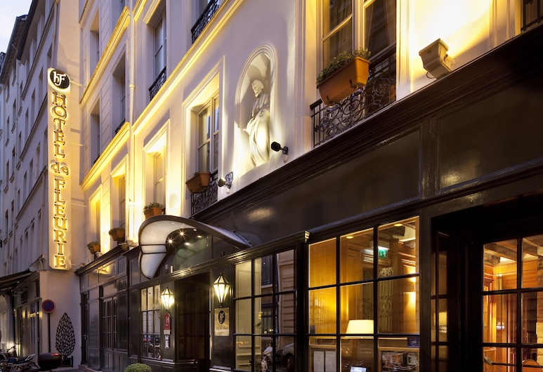 Hotel De Fleurie, Paris, Hotel Front – Evening/Night