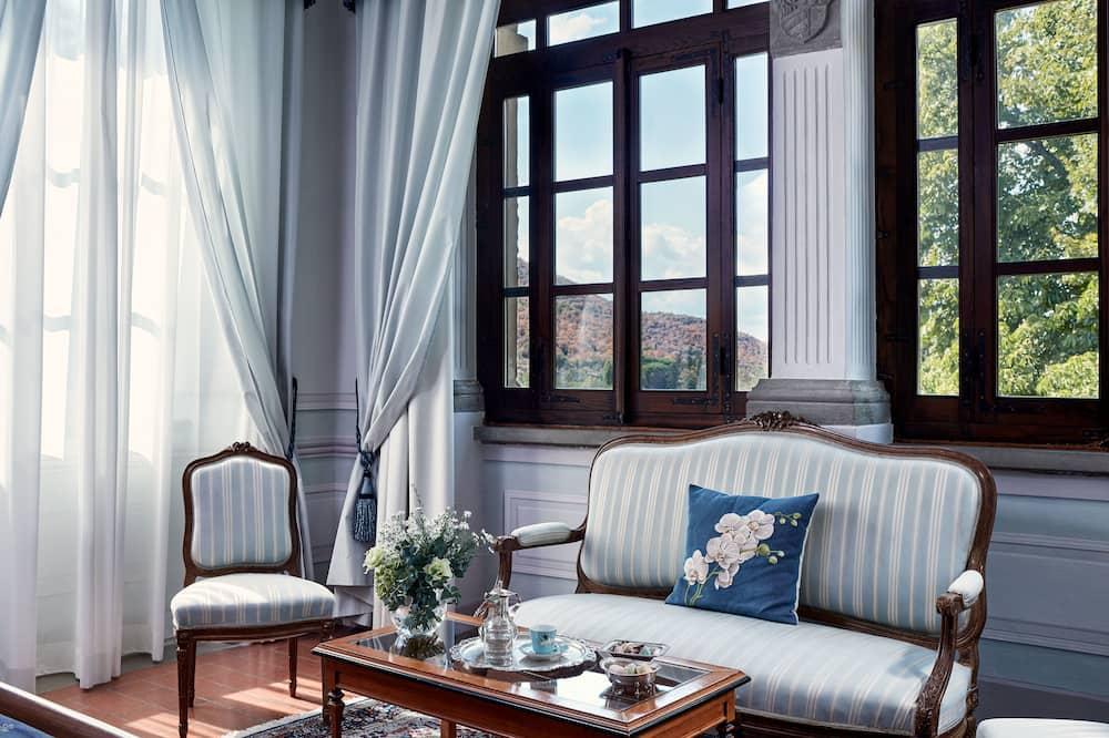 Apartmá s ložnicí a obývacím koutem, dvojlůžko (200 cm) (Villa) - Obývací prostor