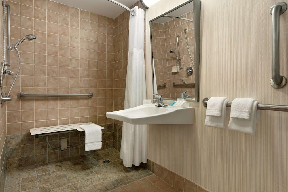 Номер, 2 ліжка «квін-сайз», обладнано для інвалідів - Ванна кімната