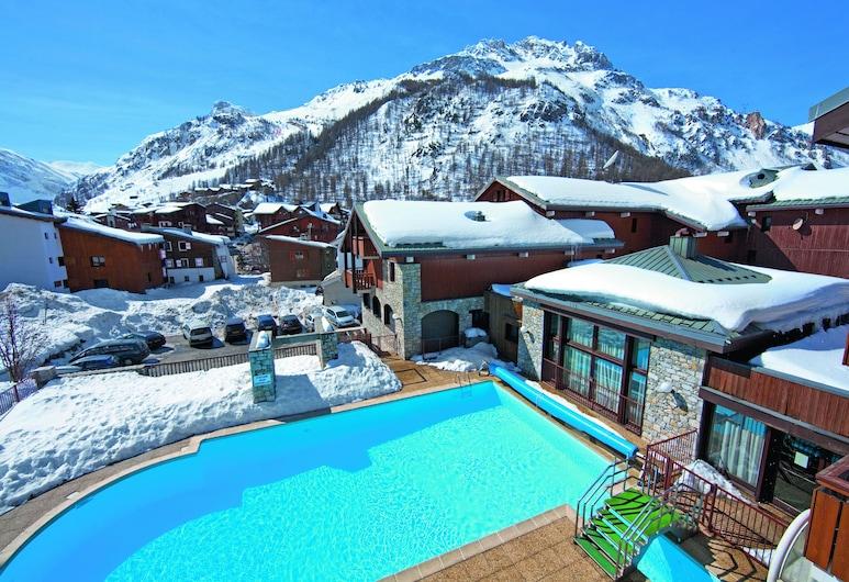 Pierre et Vacances Residence Les Chalets de Solaise, Val-d'Isere, Εξωτερική πισίνα
