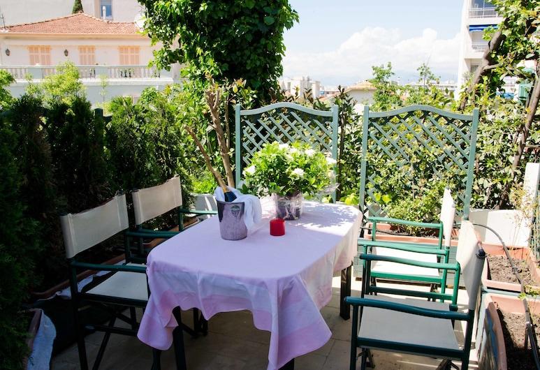 Residence Emeraude, Antibes, Deluxe-lejlighed - terrasse (5 pers), Terrasse/patio