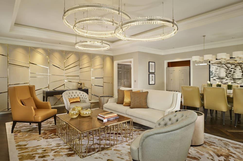 Presidential-suite - 2 soveværelser - ikke-ryger (Club Lounge Access,Skyline View) - Opholdsområde