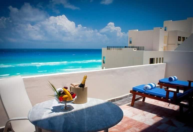 Casa Turquesa, Cancun, Penthouse Suite, 1 King Bed, Ocean View, Erkély