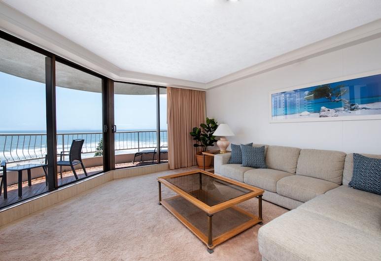 Breakfree Acapulco, Surfers Paradise, 1 Bedroom Ocean Apartment, Living Area