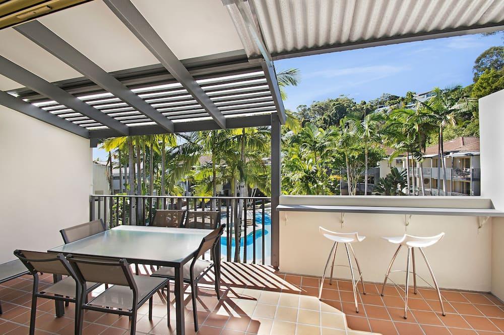 Paaugstināta komforta dzīvokļnumurs, divas guļamistabas - Balkons