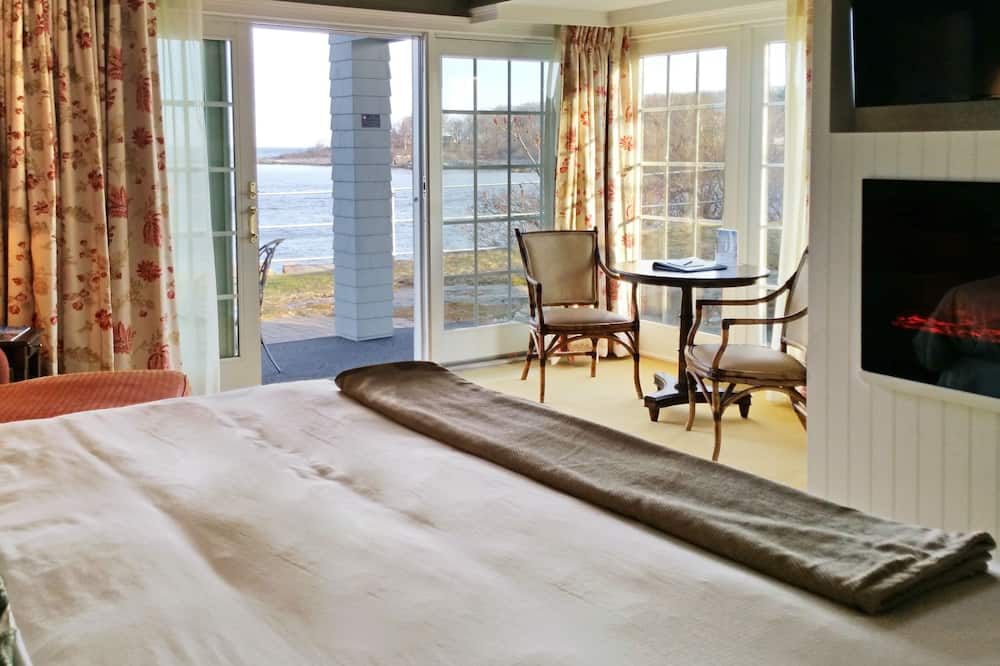 Szoba, 1 king (extra méretű) franciaágy, kilátással az óceánra (Corner Room, Upper or Ground Floor) - Nappali rész