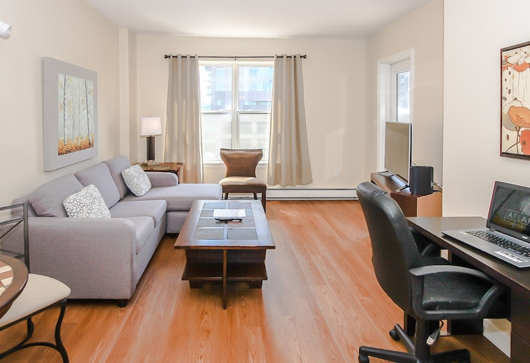 Atlantic Corporate Suites Downtown Parkside Apartments, Halifax, Apartment, 1 Bedroom, Living Area