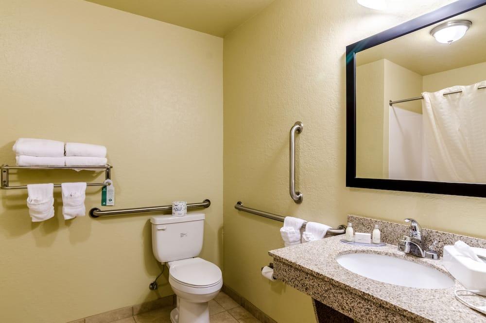 Suite, 1 cama King size con sofá cama, con acceso para silla de ruedas (Roll-in Shower) - Baño