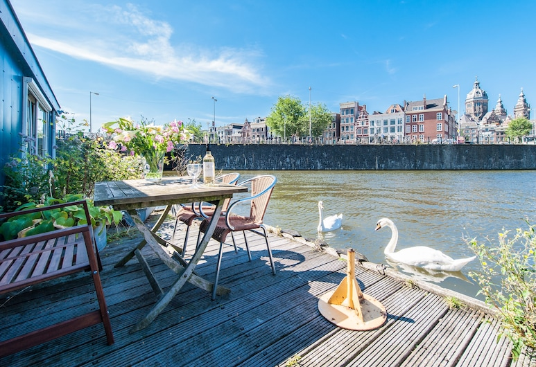 Short Stay Group Nieuwmarkt Area Serviced Apartments, Amsterdam, Lägenhet - 1 sovrum (Central Blue Boat), Terrass