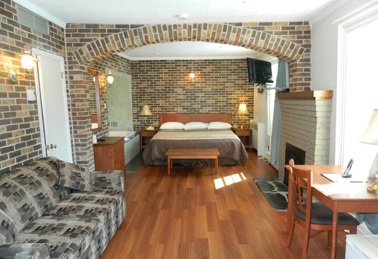 Motel-Hotel La Paysanne, Sherbrooke, Kambarys, 1 labai didelė dvigulė lova ir sofa-lova, Svečių kambarys
