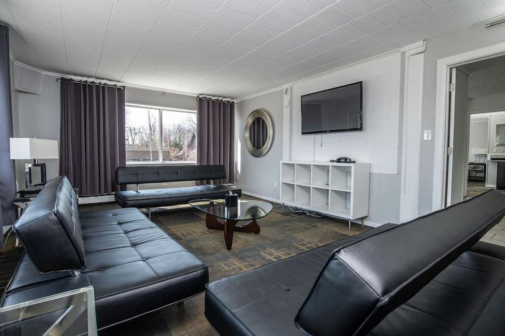Ateliérový apartmán typu Signature, 2 spálne, kuchyňa, poschodie Executive - Obývacie priestory