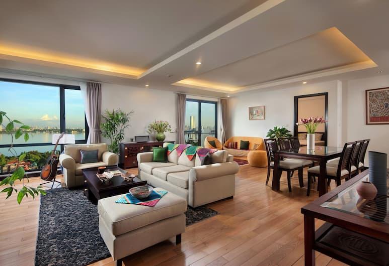 Elegant Suites Westlake, Hanoi, Leilighet, 4 soverom, utsikt mot innsjø, Rom