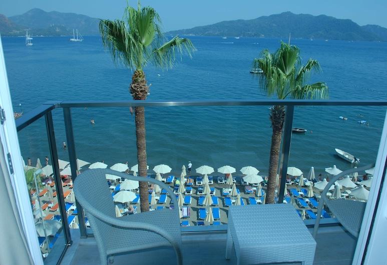Begonville Beach Hotel - Adults Only, Marmaris, Standard Oda, Deniz Manzaralı, Balkon