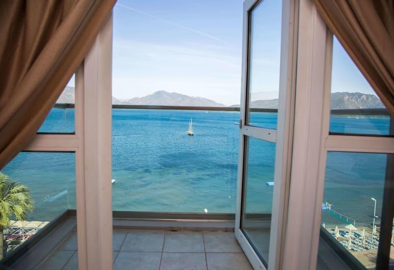 B&B Yüzbaşı Beach Hotel, Marmaris, Standarta numurs, skats uz jūru, Balkons