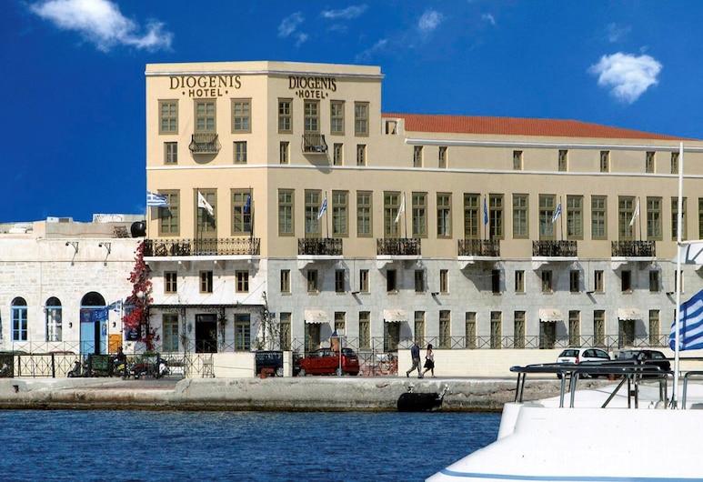 Diogenis Hotel, Siras, Viešbučio fasadas
