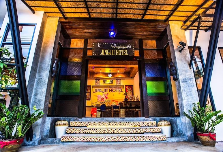 Jingjit Hotel, Krabi, Ingang van hotel