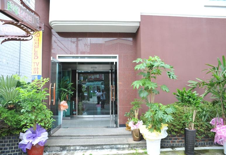 Jeju Olleh Hotel, Jeju City, Entrada del hotel