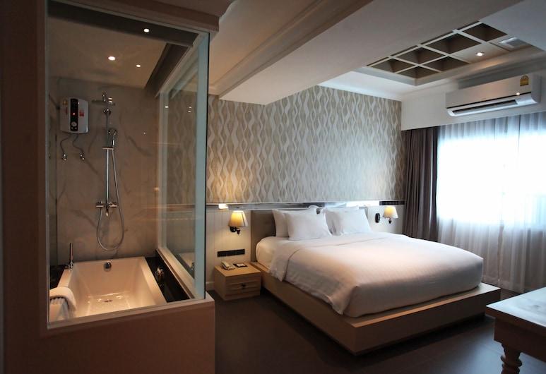 The Raya Surawong Bangkok, Μπανγκόκ, Deluxe with Bathtub Artificial window, Δωμάτιο επισκεπτών